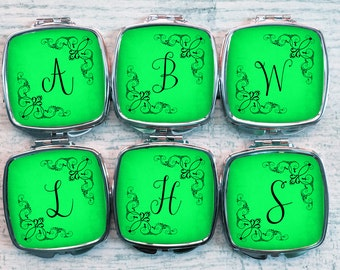 Bridesmaids Gifts - Personalized Bridesmaids Gifts - Bridesmaids - Compact Mirrors - Bachelorette  - Bachelorette Gifts - Favors - Set of 6