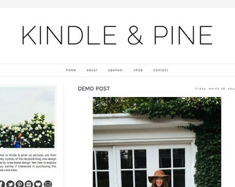 Kindle & Pine -- Premade Blogger  Template