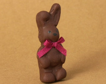 Cute Chocolate Easter Bunny for Your Dollhouse
