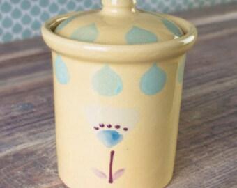 Hand-painted storage jar Florence