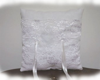 "Wedding Ring Pillow - ""Elegant Lace"" - Ring Bearer Pillow"