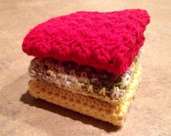 Crochet Dishrag/Wash Cloth - Multiple Colors