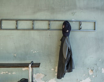 Industrial Coat Hook Rack
