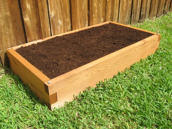2x4 cedar raised garden bed tool free and expandable
