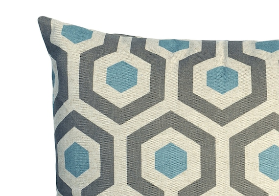 Blue Decorative Pillows For Couch Sofa Zipper Pillow Cover 8
