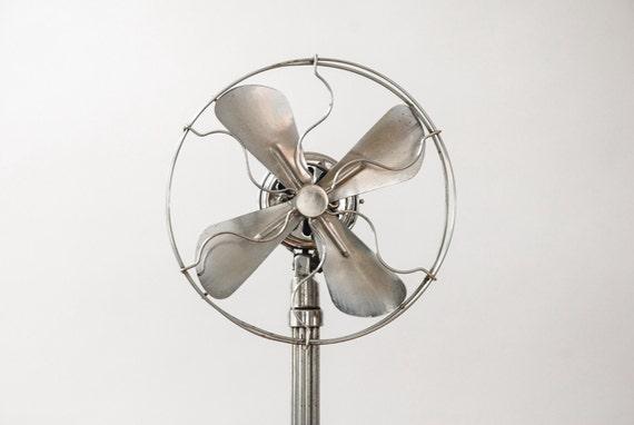 Rare Electric Fan Antique Metal Fan Industrial Fan Pedestal