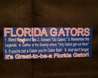 Florida Gators Fan Definition Sign