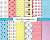 Easter Set 12 x 12 Paper Pack Digital Scrapbook and Clipart Instant Download