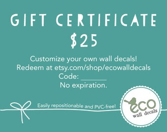 Gift Certificate 25 USD