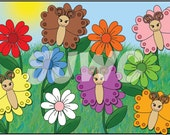BUTTERFLY - FLOWER Color Match Children's File Folder Game - Downloadable PDF Only