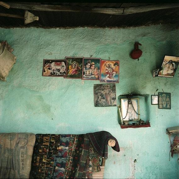 india cyan home interior wall indian hindu gods krishna shiva
