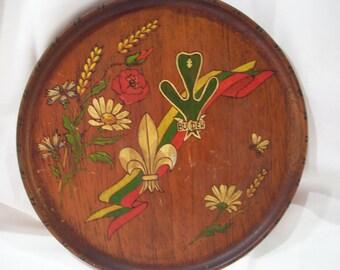 Argentina Wood Round Souvenir Plate