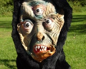 Topstone Mask/Mask/Three-Eyed Ghoul Mask/Halloween Mask/Monster Mask/Vintage Mask/1960's/Rubber Mask/Ghoul Mask/Old Mask/Creepy