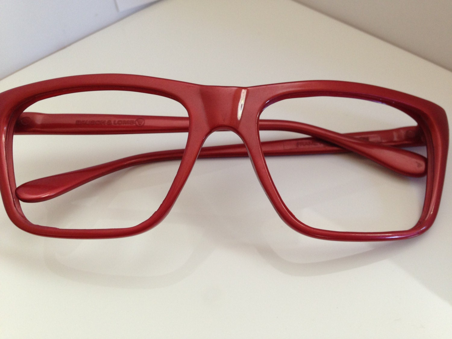 Ray Ban Vintage Glasses Frames : Vintage RAY BAN Red Nylon CATS Eyeglasses Made by ...
