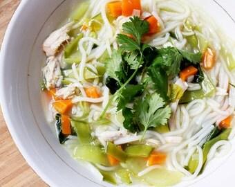 Lemon Ginger Chicken Noodle Soup