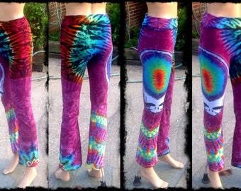 Grateful Dead Tie Dye Yoga Pants-Stealy