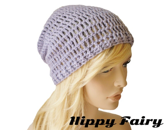 Summer beanie, lavender hat,spring beanie, womans slouch beanie, crochet spring hat, spring accessories, womans spring hat