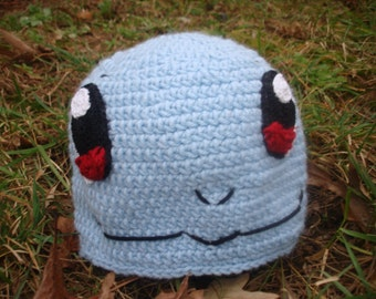 Squirtle Inspired Crocheted Pokemon Beanie