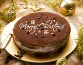 Decorazioni di Natale allegri tondo stampino rotondo H014 di torta stencil per decorazione torta