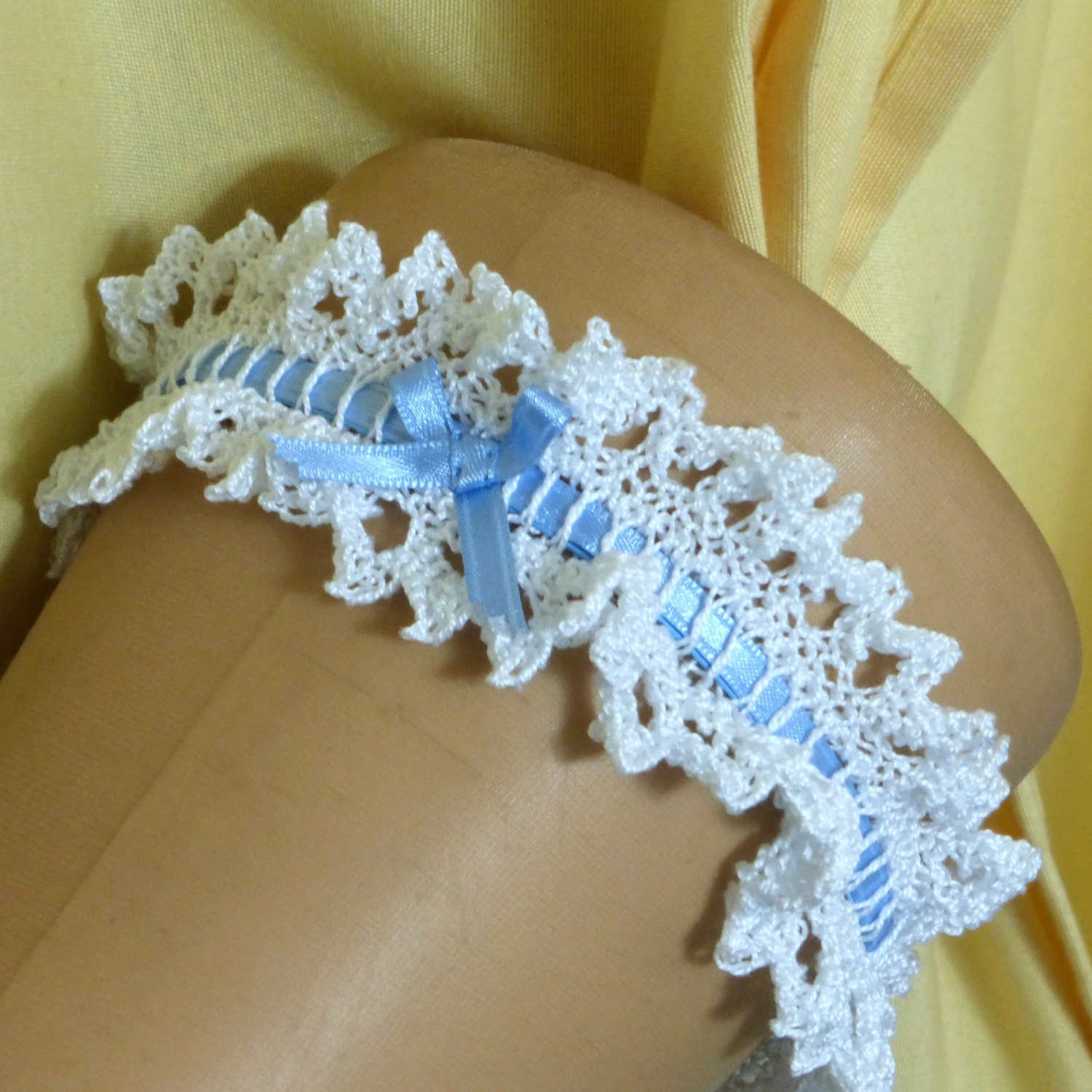Crochet Wedding Garter: Instant Download Knitting Pattern Wedding Garter For By Dycas