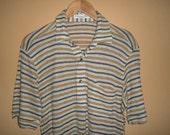 Rare Vintage Christian DIOR Monsieur Stripped Designer Shirt Mens shirt hip hop chain baroque run dmc