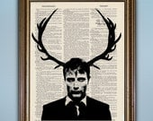 Hannibal - Eat The Rude - Buy 2 Get 1 Free! -- Dictionary Print Illustration --- Antique Book Page Creepy Home Decor Unique Mads Mikkelsen