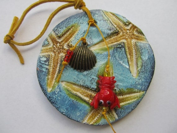 Red Starfish Wall Decor : Items similar to wall hanging ornament starfish ceramic
