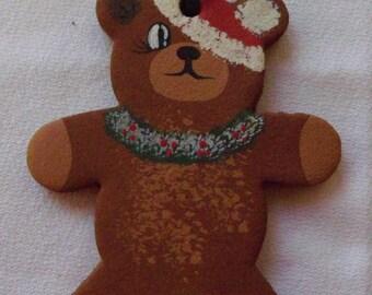 Teddy Bear Hndcrafted Clay Ornament
