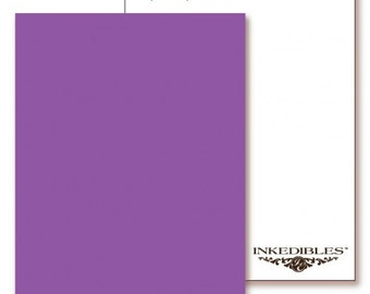 Inkedibles Premium Frosting ChromaSheets: 5 pack Letter Size (Purple)