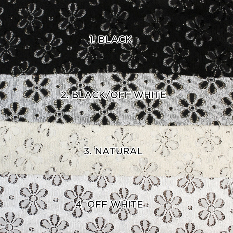 Nylon cotton eyelet lace fabric by the yard or wholesale for Cheap fabric by the yard