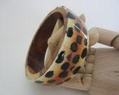 Beautiful Tribal Bangle - Vintage Statement Jewelry - Stack - Fun!