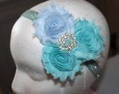 Princess Elsa Inspired Headband - Queen Elsa Inspired Headband - Frozen Headband - Flower Headband - Elastic Headband - Princess Headband