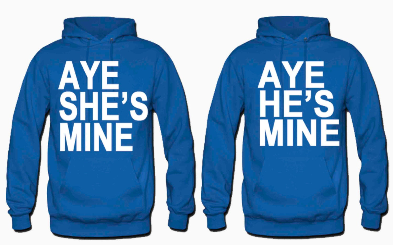 Aye He S Mine Aye She S Mine Hoodies Ebay Cashmere