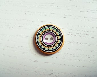 Button/button hand-painted ceramic # 3
