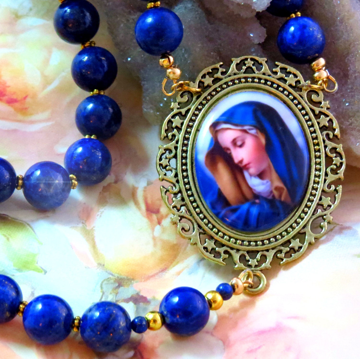 LAPIS ROSARY Most Beautiful Rosary Catholic by ...