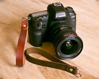 Leather SLR Camera Wrist Strap + FREE personalisation