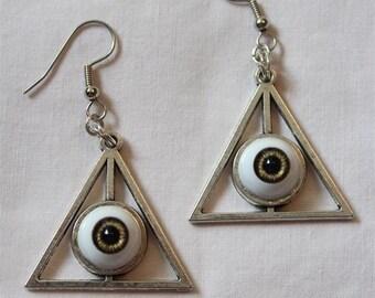 Triangle eye eyeball 'TRIVISION' earrings