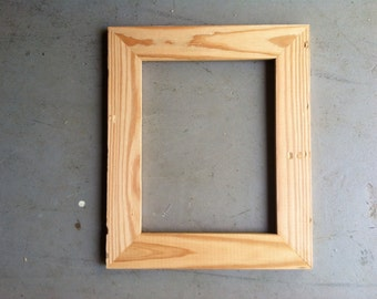 8.5x11 Pine Wood Picture Frame