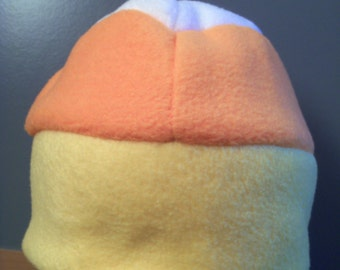 Fleece Candy Corn Hat