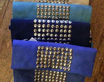 Faux Suede Studded Purse
