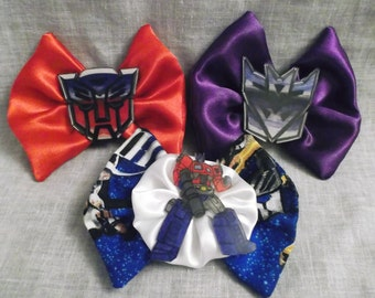 Nerdy Transformers Bow Hair Clips