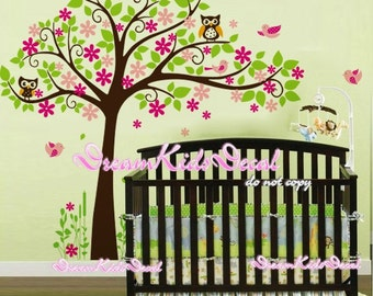 Cherry Blossom Tree wall decal baby nursery wall decals children girl wall decals wall sticker wall decor-DK148