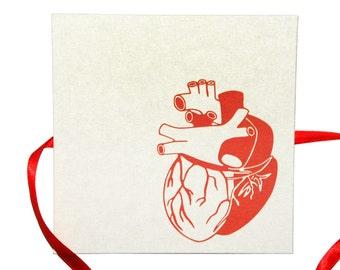 leporello photo album heart