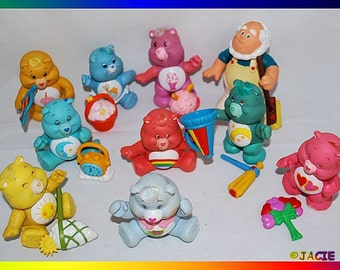 10 Care Bear Poseables - 9 with Accessories