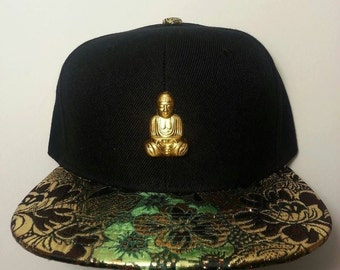 Gold Buddha Floral Snapback