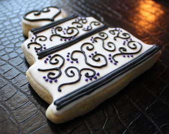Wedding Cake Cookies, Bridal Shower Favors, Bridal Luncheon Favors, Birthday Cookies, Anniversary Cookies
