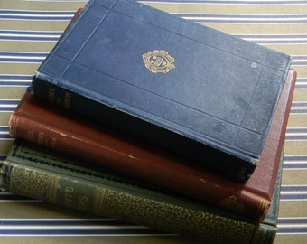 Antique Book Collector's Library - Lot of 3 Titles Suitable for Display - Poetry