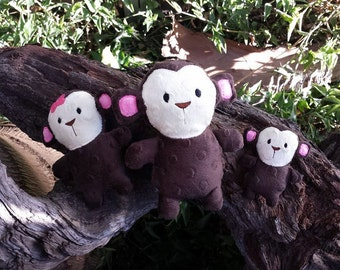 ITH Monkey Softie - 2 styles - 3 sizes - Embroidery Designs