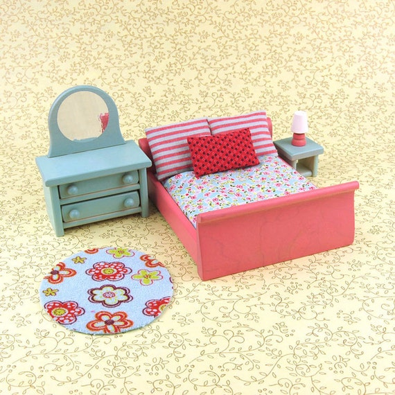 Master Bedroom Dollhouse Furniture Set