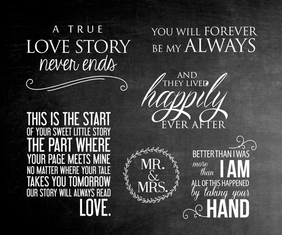 Pics Words Sayings: 6 Word Overlays Love Wedding Phrases Photo Overlay Text